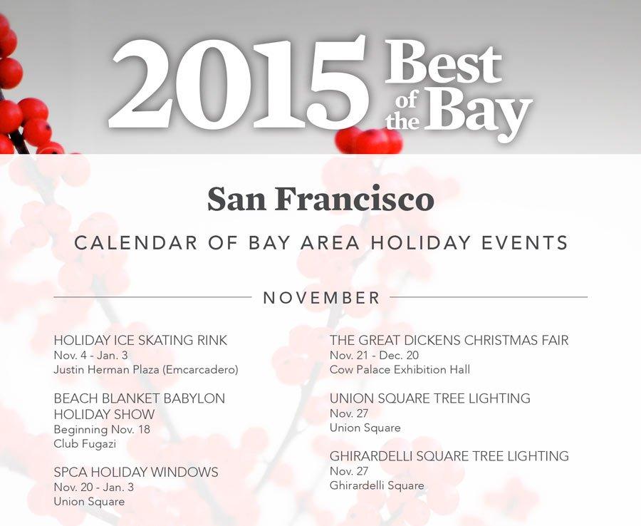 San Francisco Holiday Events Calendar