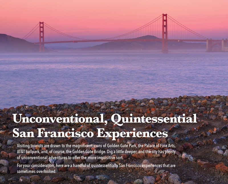 Unconventional, Quintessential San Francisco Experiences